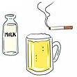 ミルク、ビール、タバコ